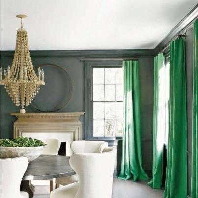 ultramarine green curtains