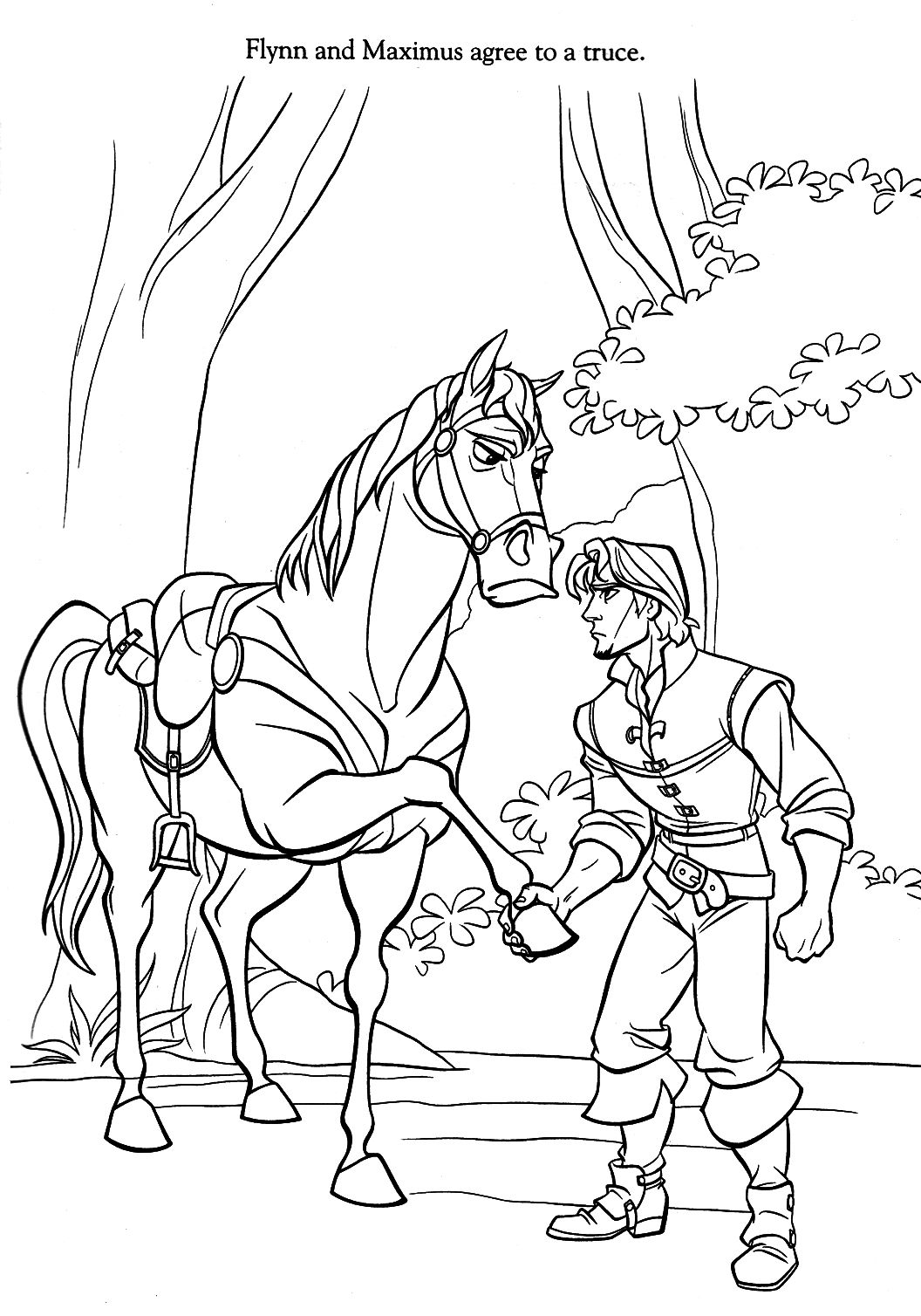 tangled maximus coloring pages-evkD | Cumple martina | Pinterest ...