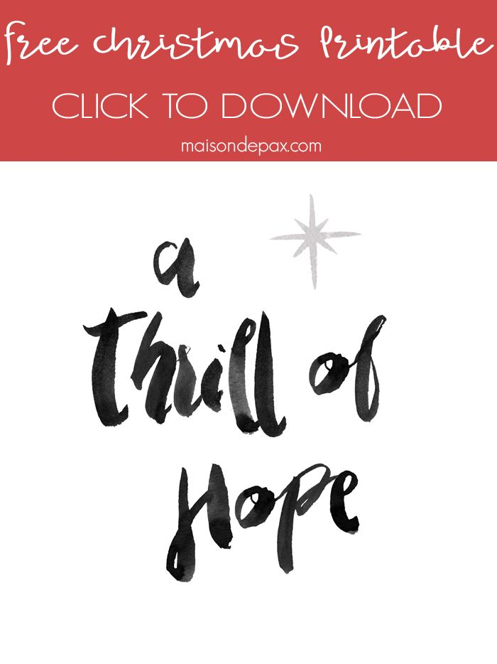 Thrill of Hope Free Christmas Printable - looking for budget Christmas decorating ideas? Download this free watercolor printable!  sc 1 st  Pinterest & Thrill of Hope Free Christmas Printable | Budgeting Watercolor and Free