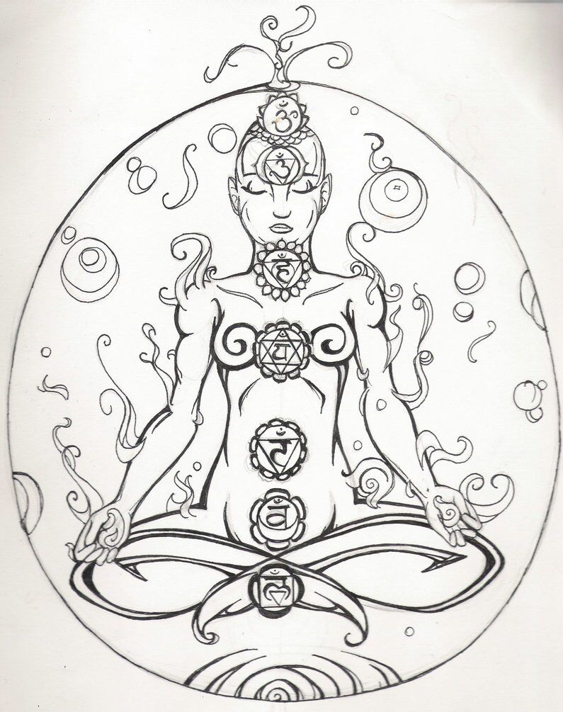 Chakra Black And White Mandala Coloring Pages Witch Coloring