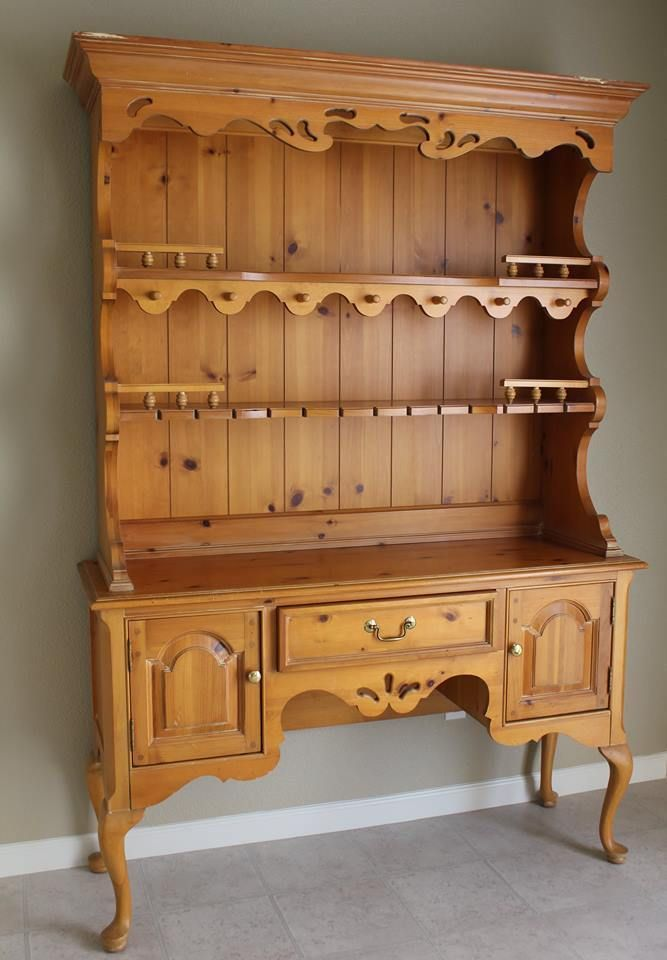 details about thomasville pine replicas 1800 hutch welsh cupboard rh pinterest com