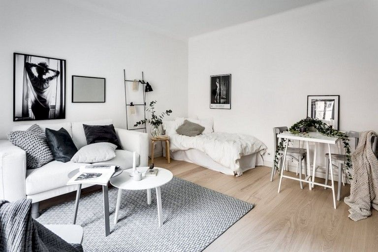55 Awesome Studio Apartment With Scandinavian Style Ideas On A Budget First Apartment Decorating Decorating Small Spaces Apartment Decor