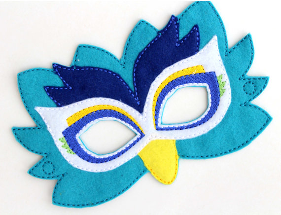 Kids Peacock Mask Costume Felt MaskKids Face Animal