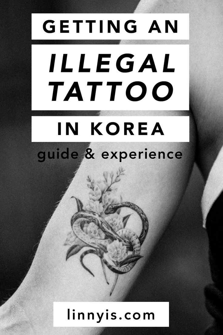 Getting an illegal tattoo in korea guide experience by