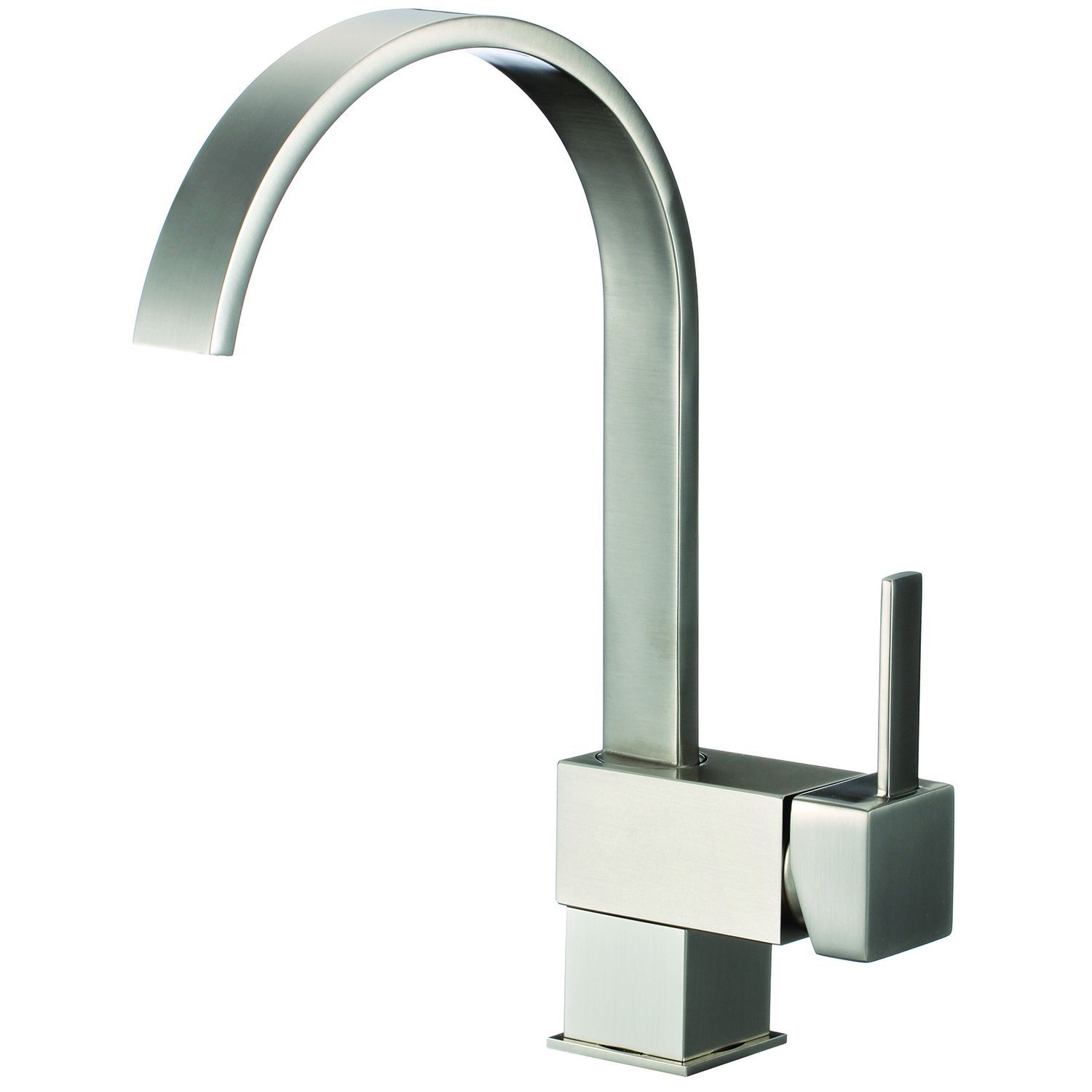 Lead Free Brushed Nickel 12 2 Inch High Arch Single Handle Pull
