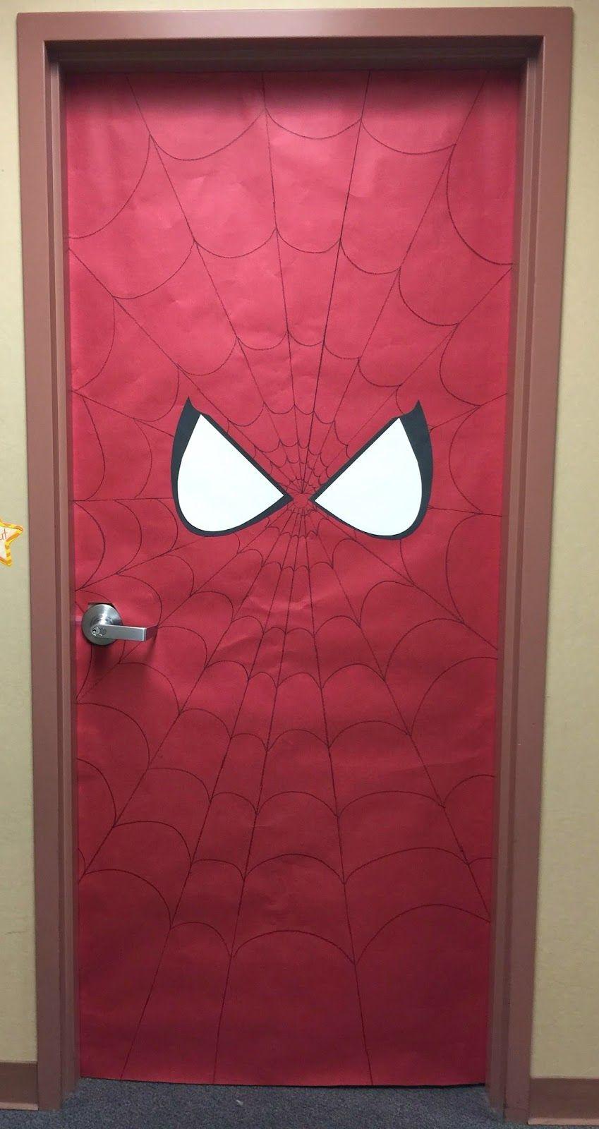 Spiderman Door · Geburtstagsparty IdeenEinladung Kindergeburtstag GeburtstagskuchenSommerfestFabelwesenKlassenzimmerKinderkramEinladungen Englisch