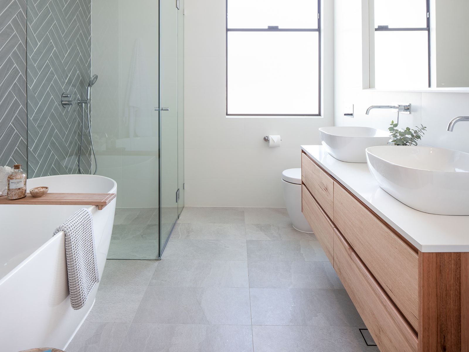 We Reveal 4 Hot Bathrooms In A Sydney Renovation With Images Small Bathroom Best Bathroom Tiles Bathroom Tile Designs