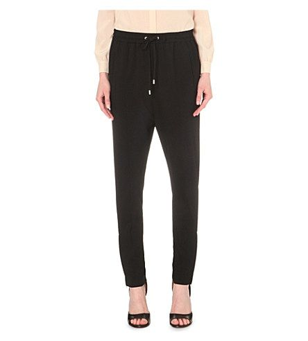 GIVENCHY Drawstring-Detail Crepe Trousers. #givenchy #cloth #trousers