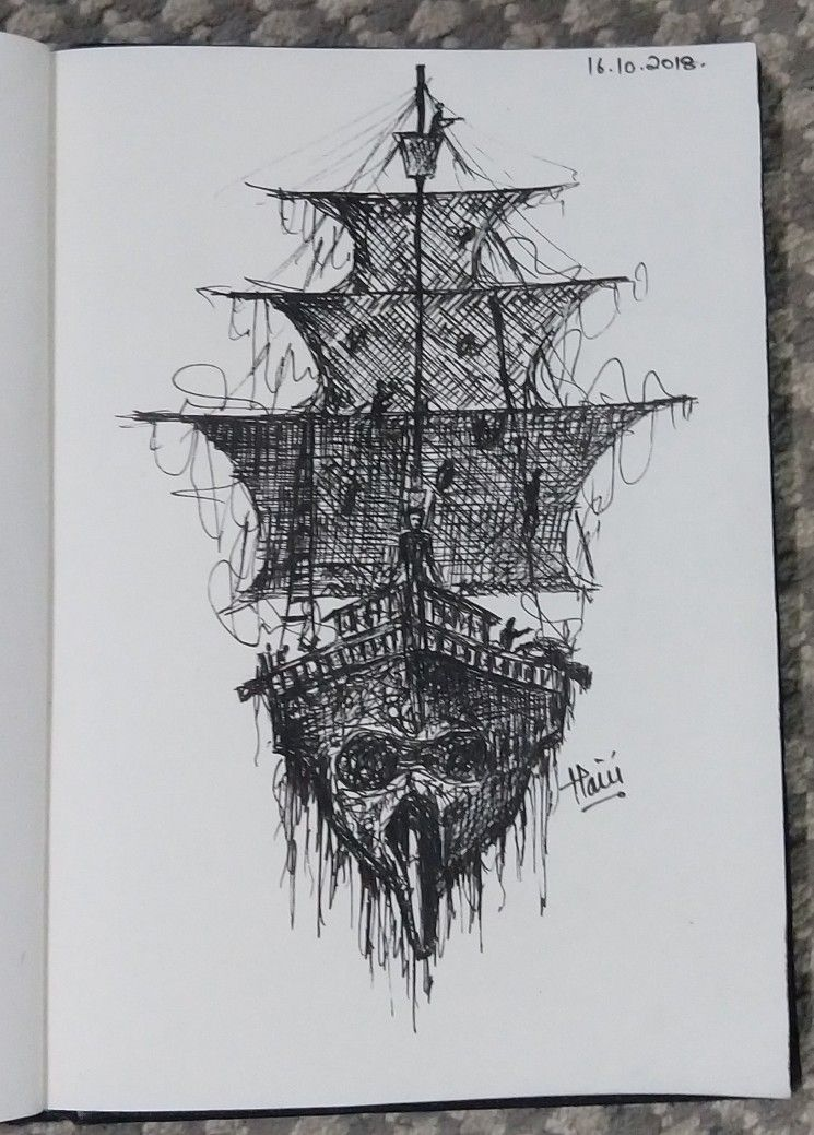 Pen Art Ship Black Pearl Pirates Of The Caribbean Inkwell Penart Black Weight Ship Drawing Pen Art Black Pearl Ship