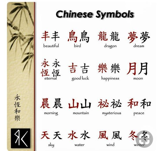 More Chinese Symbols To Draw With Henna Powder Paste Www