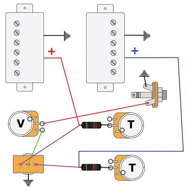 want split second tone switching on your dual humbucker guitar try rh pinterest com