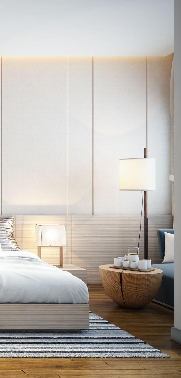 Interior Design Villa Visualization On Behance Bedroom