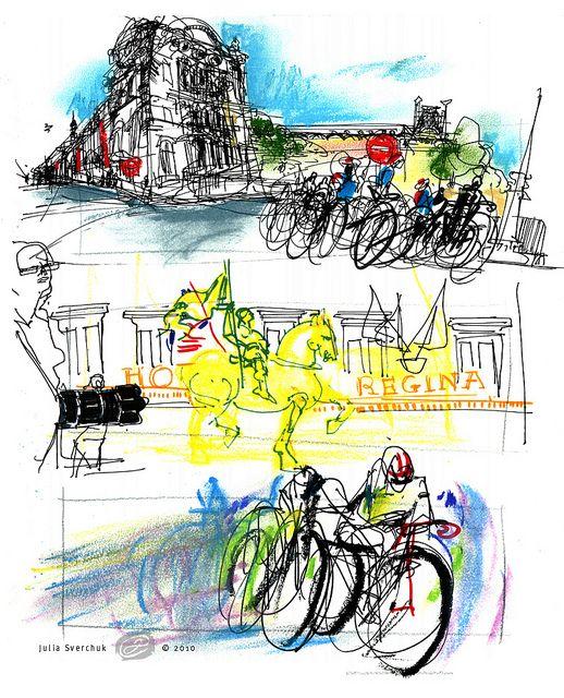 Le Tour De France 2010: views in front of the Louvre by juliasverchuk.com, via Flickr