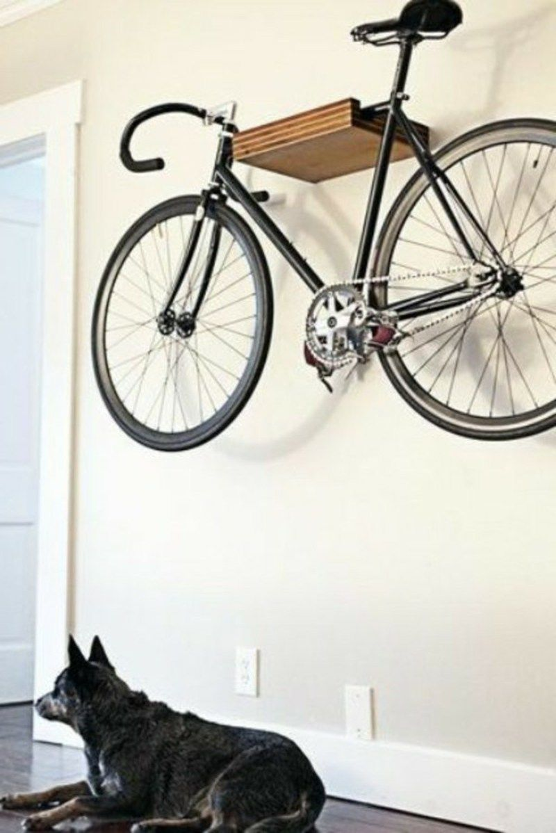 interessante ideen f r fahrradhalter wand diy gruppe pinterest hanging bike rack. Black Bedroom Furniture Sets. Home Design Ideas