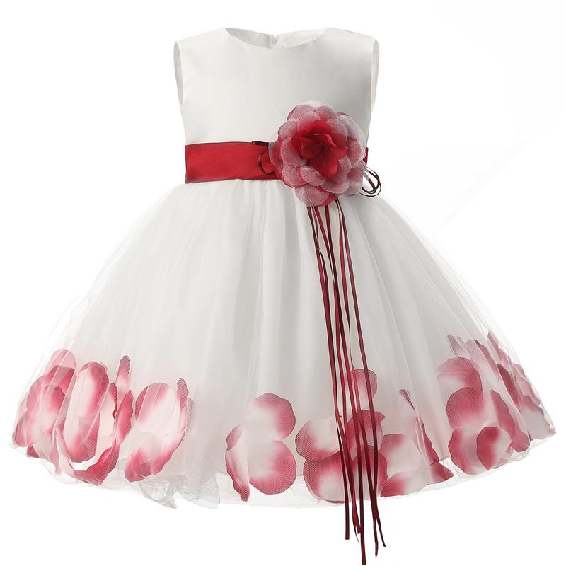 daed17401 6-24M Baby Girl Petals Tulle Christening Dress Princess Party ...