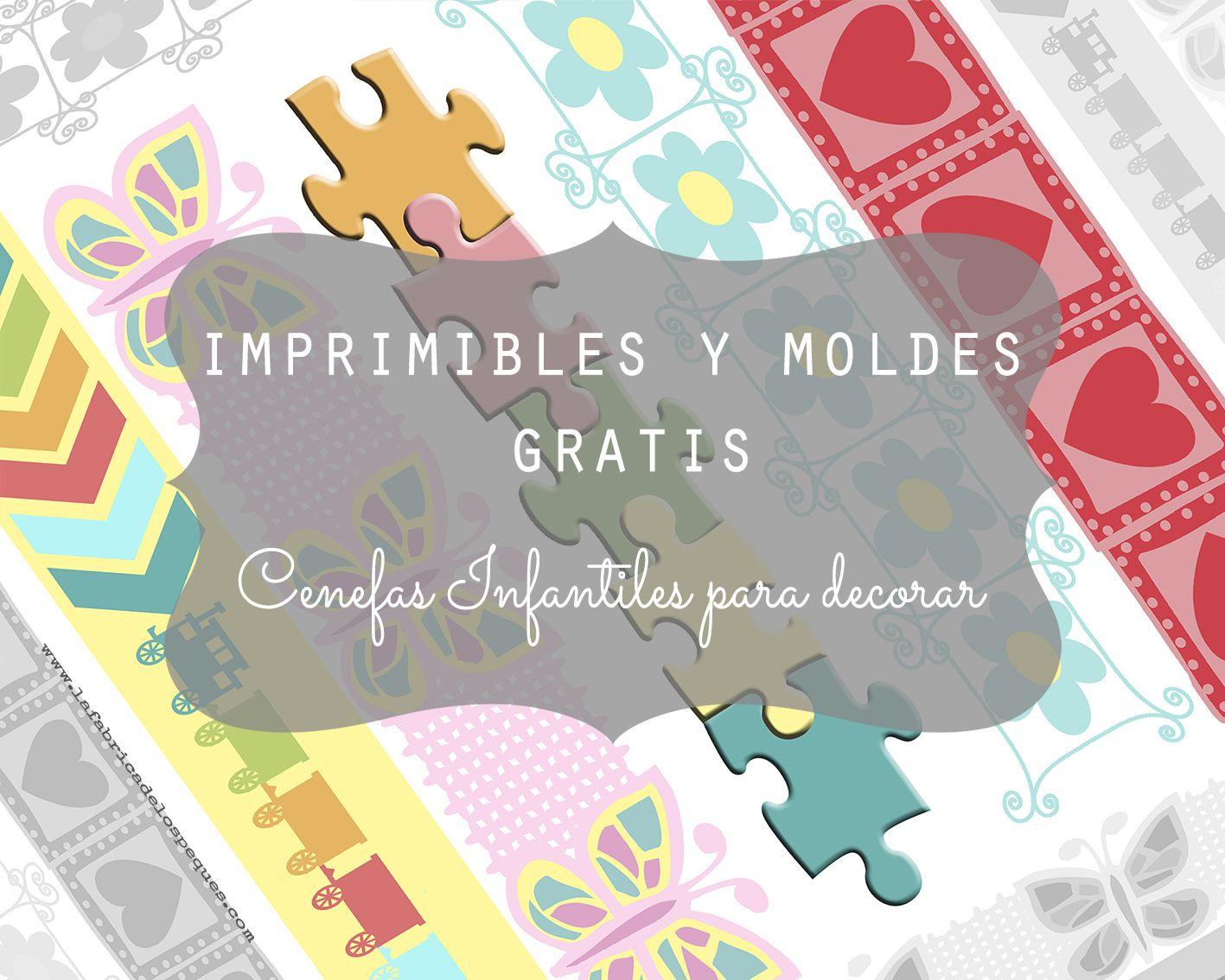 Imprimibles y moldes gratis: cenefas infantiles para decorar ...