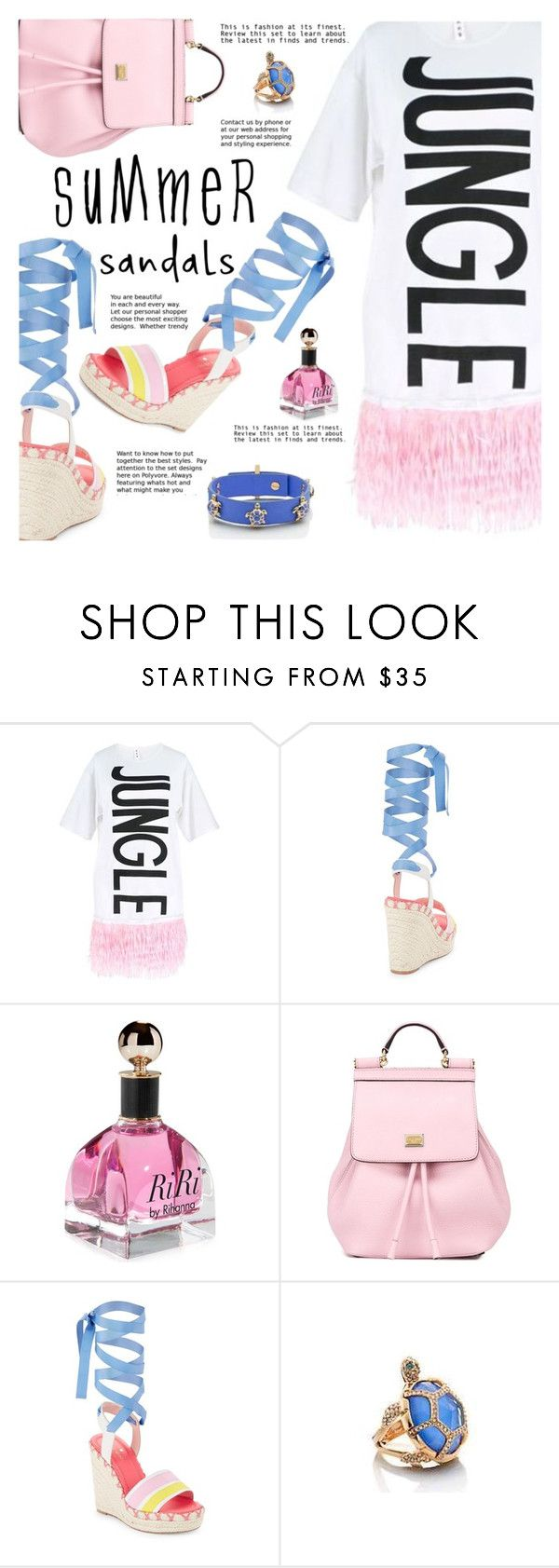 """""""Summer day"""" by gabrilungu ❤ liked on Polyvore featuring Dolce&Gabbana, Kate Spade and summersandals"""