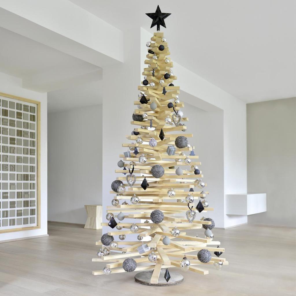 diy weihnachtsbaum aus holzlatten tannenb ume. Black Bedroom Furniture Sets. Home Design Ideas