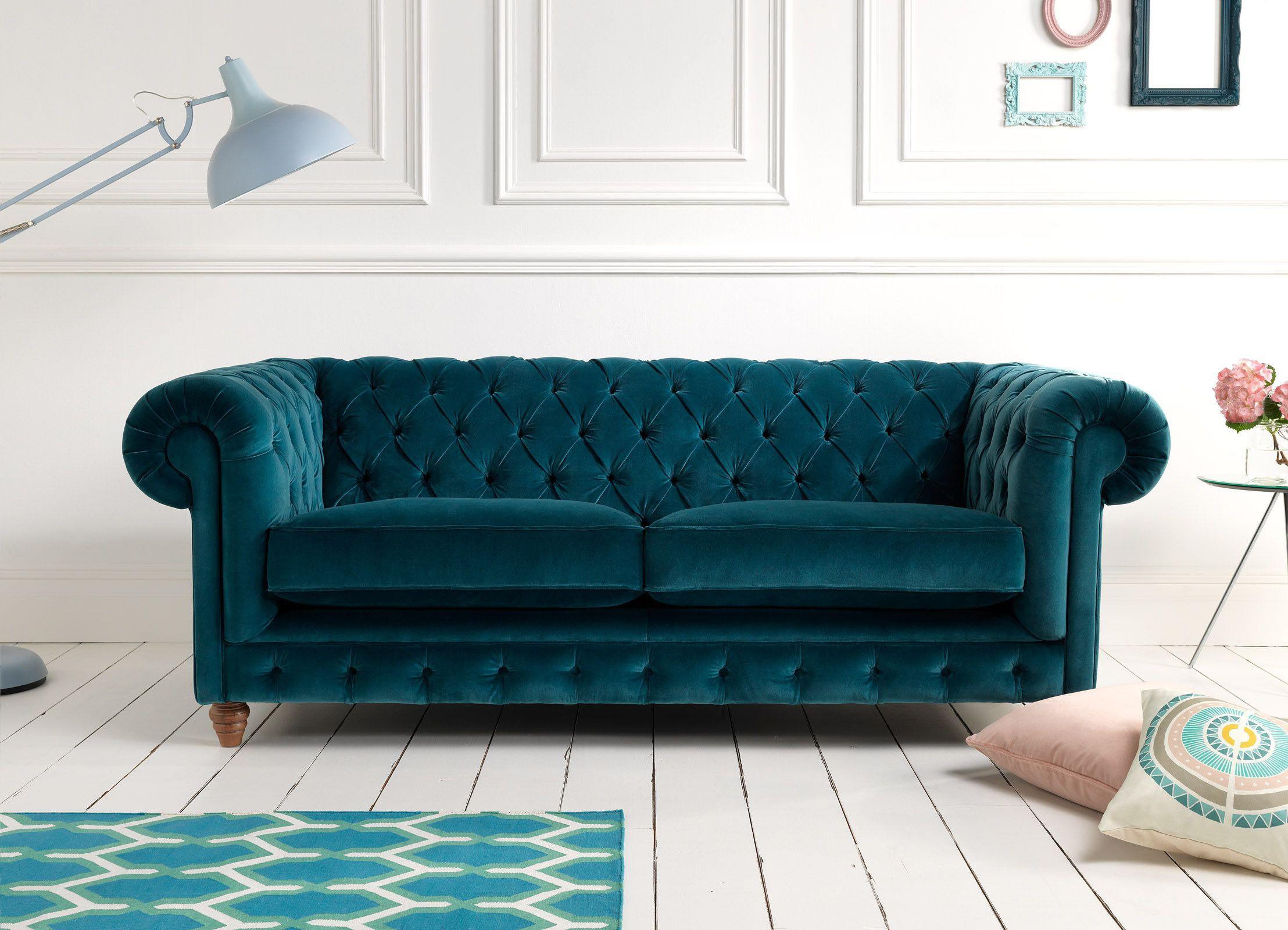 Best Navy Velvet Tufted Sofa Velvet Living Room Furniture 400 x 300