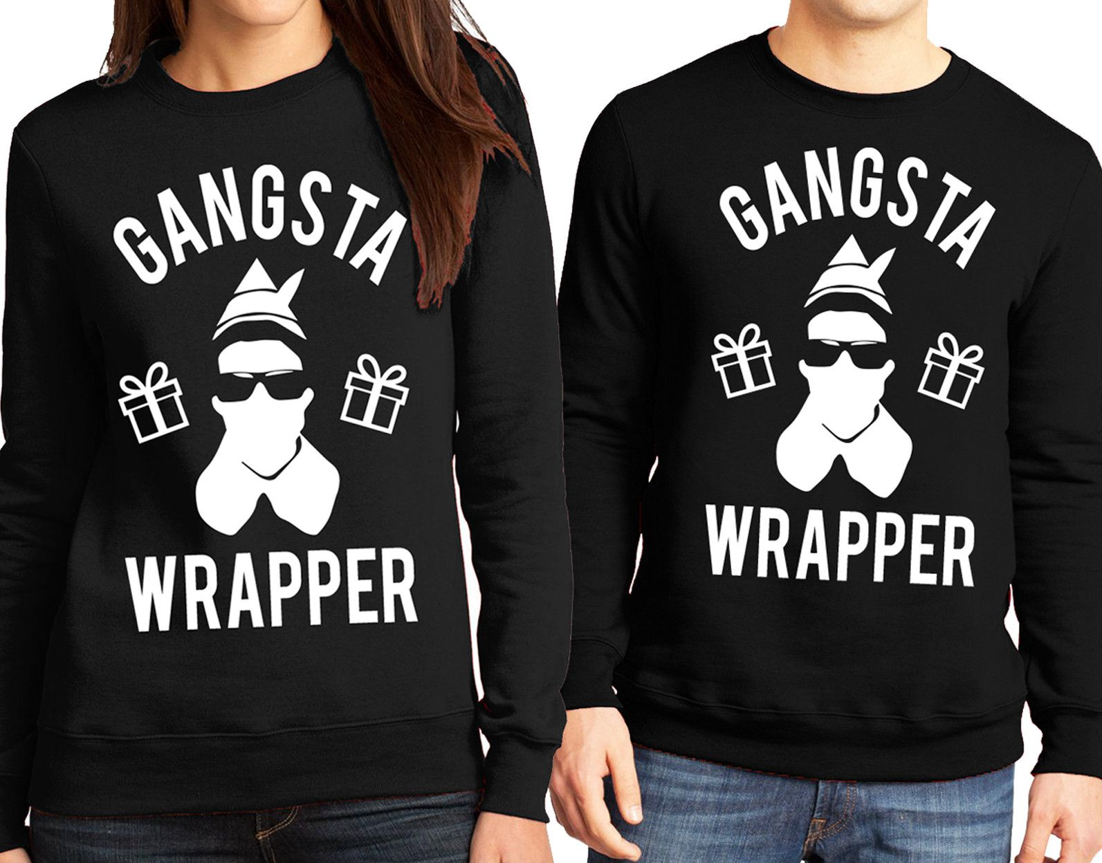 033f2cadc Funny GANGSTA WRAPPER #Christmas Sweater by NoBull Woman Apparel. Pick  between Red or Black at www.NoBullWoman-Apparel.com