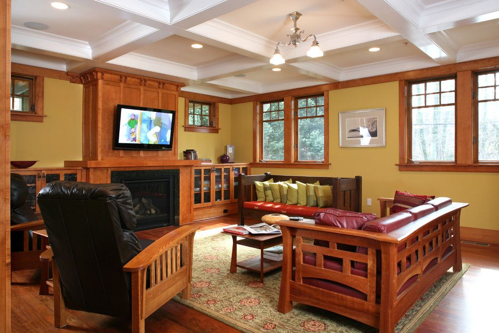 mission-style-living-room-furniture-Family-Room-Craftsman ...