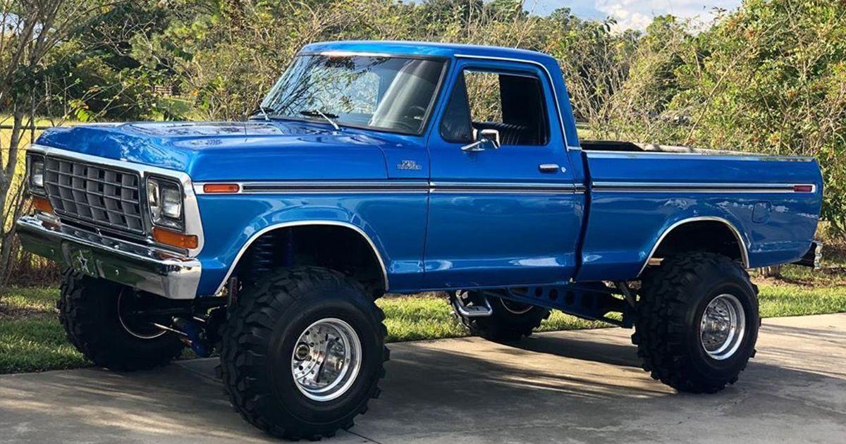 Blue 1979 Ford In 2020 Ford Pickup Trucks Classic Ford Trucks Ford Trucks