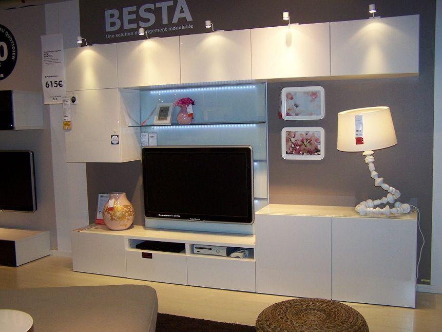 Album 2 ikea r alisations en magasins autour de la for Ikea meuble tele