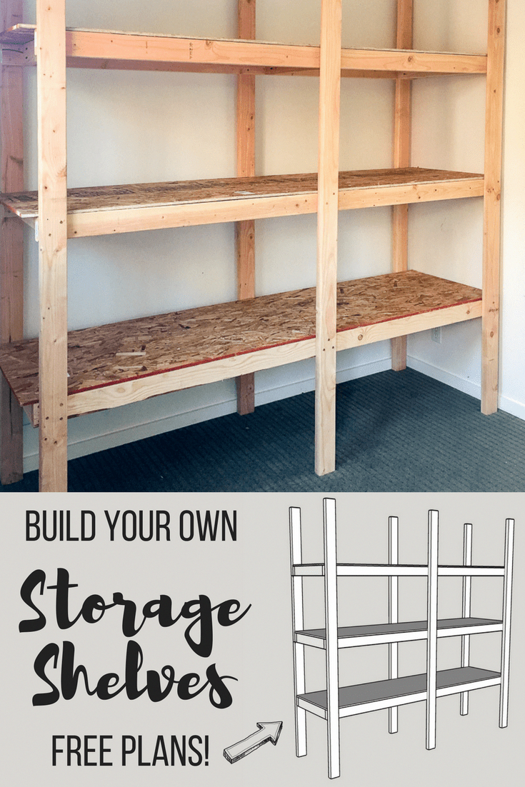 learn how to build your own storage shelves with free woodworking rh pinterest com