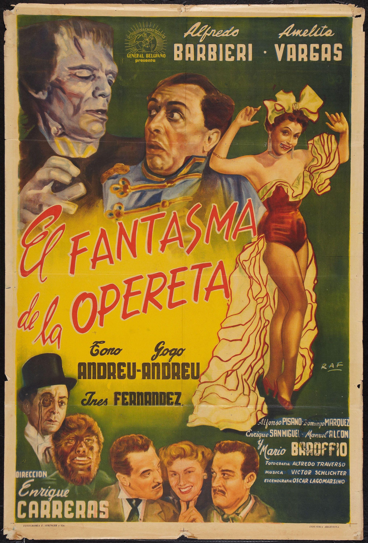 1955 - EL FANTASMA DE LA OPERETA - Enrique Carreras
