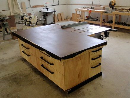Outfeed/Assembly Table   DIY Workshop Projects   Woodworking shop, Assembly table, Woodworking ...