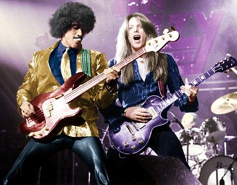 Live and Dangerous: Scott Gorham with Phil Lynott in their heyday