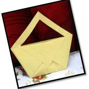 Origami hand bag diy disney pinterest hand bags origami make a simple traditional origami hand bag glimpse of the hand bag how to step start with a square sheet of paper sciox Choice Image
