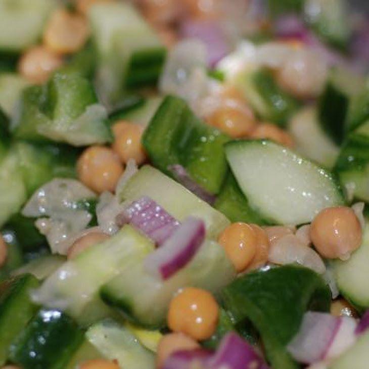 Sesame Garbanzo Cucumber Salad Recipe