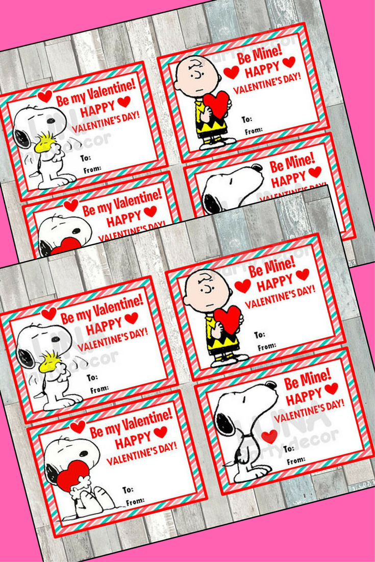 Peanuts Snoopy Valentine S Day Cards Instant Download Printable Charlie Brown Valenti Snoopy Valentine S Day Happy Valentines Day Card Charlie Brown Valentine