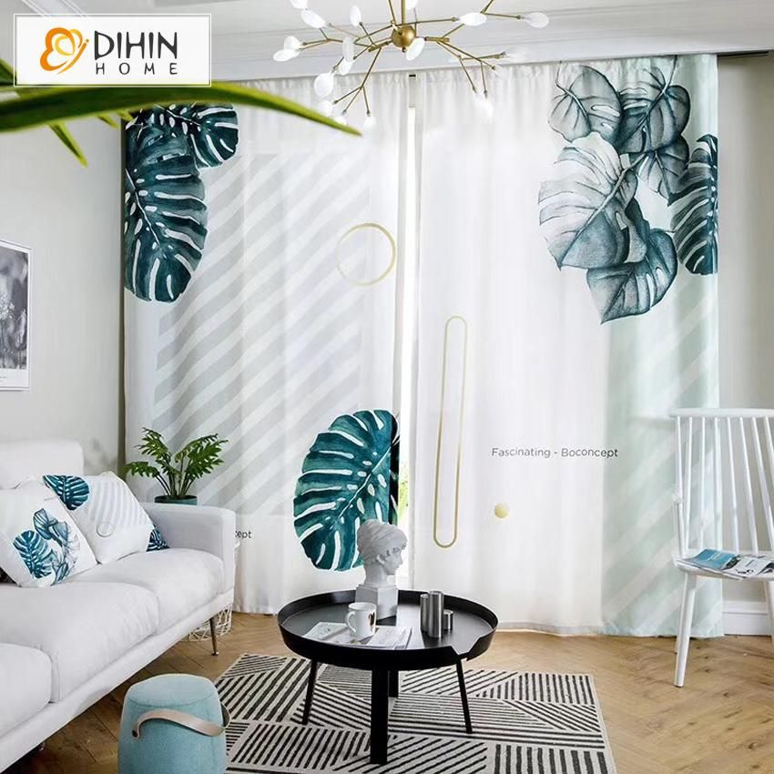 Dihin Home 3d Printed Banana Tree Blackout Curtains Window Curtains Grommet Curtain For Living Room 39x102 Inch Curtains Living Room Curtains Grommet Curtains #printed #living #room #curtains