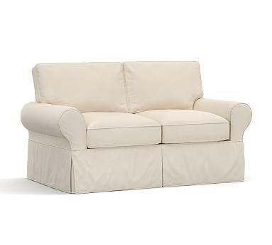 pb basic down organic cotton canvas loveseat natural sofa rh pinterest ca