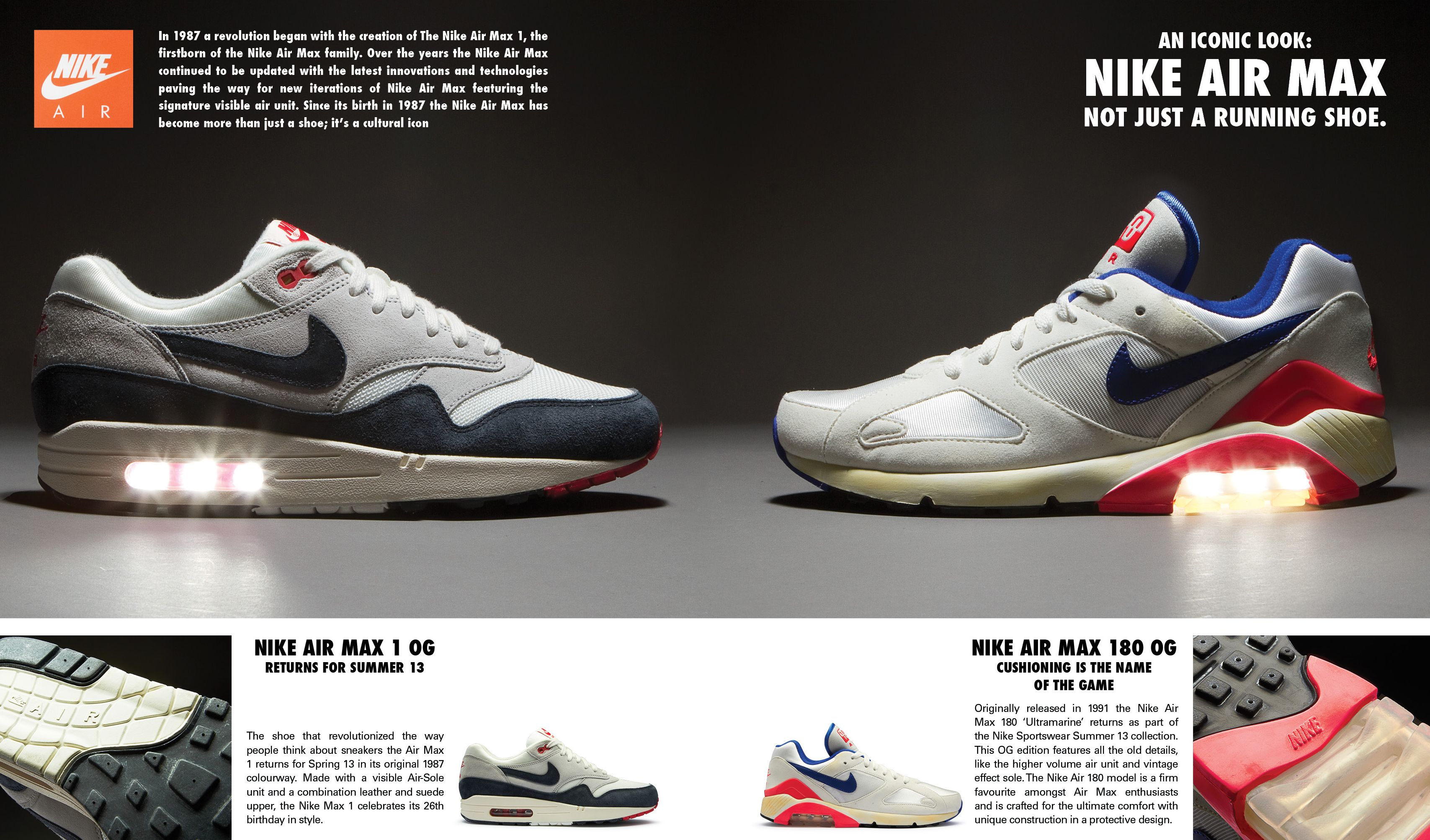Nike Air Max 1OG and Nike Air Max 180OG http   www.prodirectselect 7a826c2715