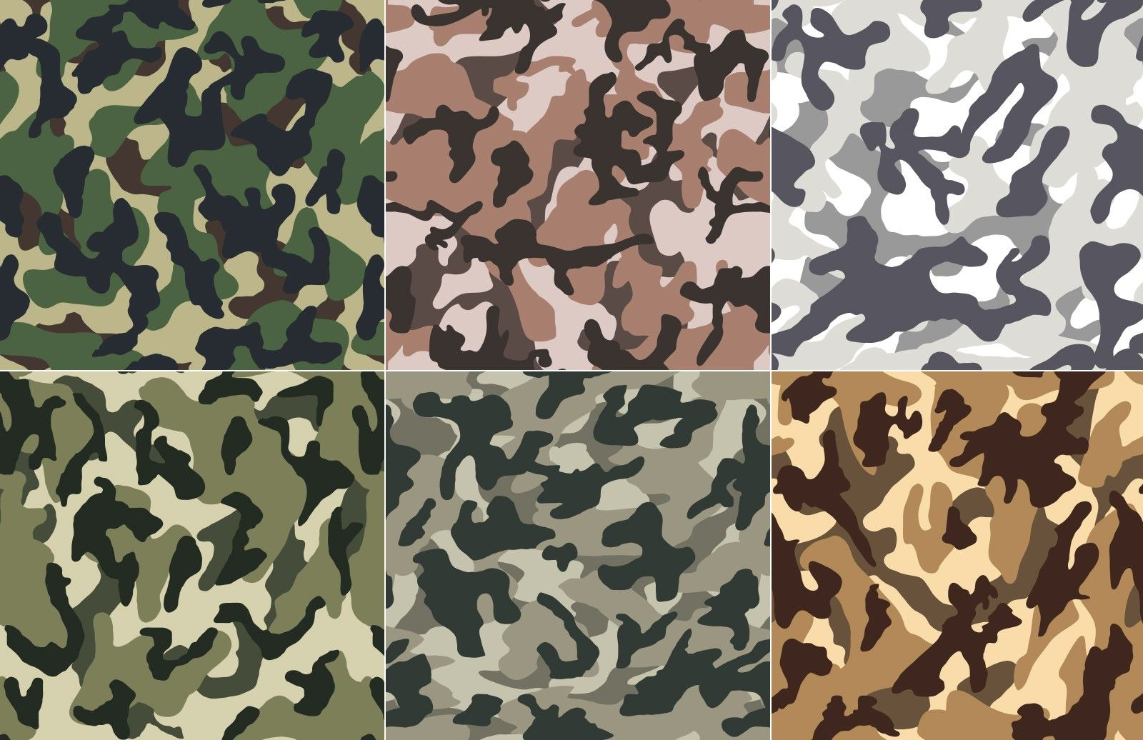 Seamless Vector Camouflage Patterns | dev resources | Camouflage