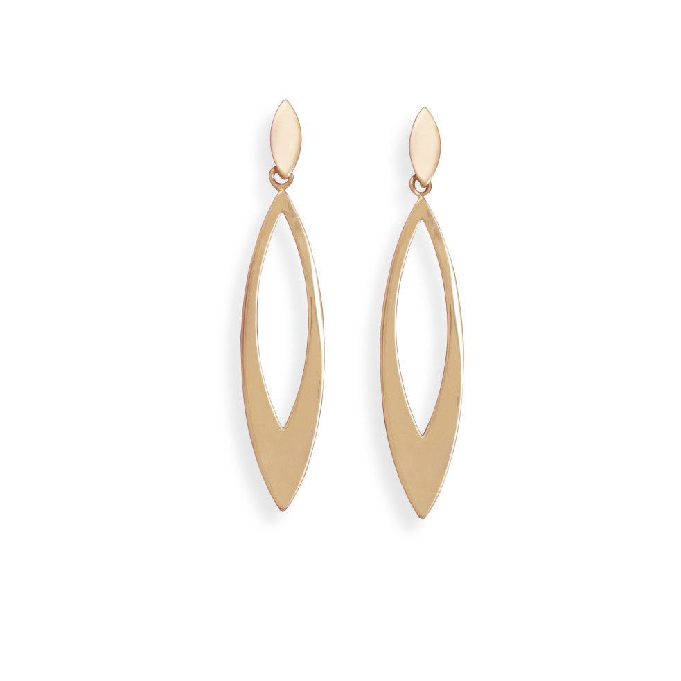 Nose piercing post  Gold Plated Marquise Fashion Post Earrings  Products