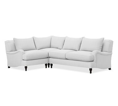carlisle upholstered left arm 3 piece corner sectional sectional rh in pinterest com