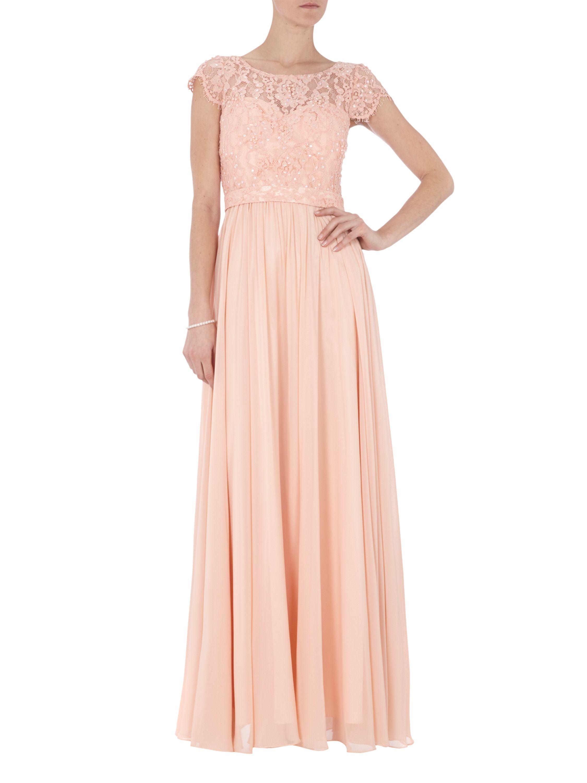 Langes kleid apricot