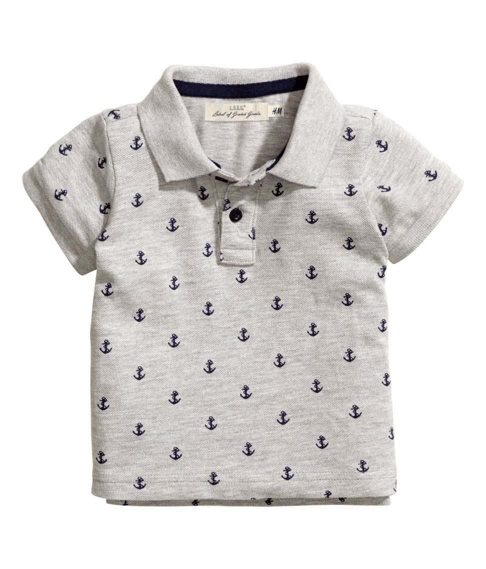 594a11e6c Anchor polo | H&M | Dressing Little Gents | Bow shirts, Baby shirts ...