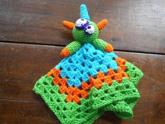 Spike Monster baby lovey crochet baby lovey by BabyBellesCrochet ...