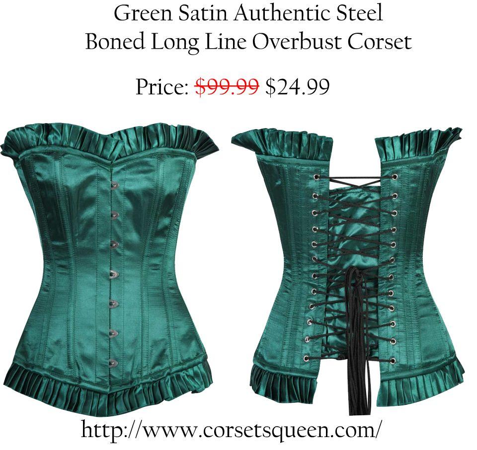 9b0ba2120 Green Authentic corset