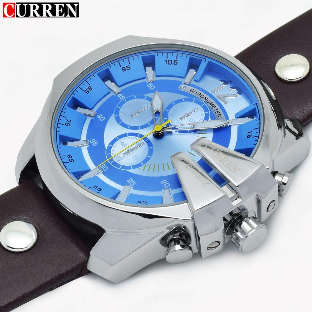 236bc890517 CURREN Homens Relógios 2016 Top de luxo famosos relógios de marca Masculino  Relógio Sports Quartz Azul Men relógio de pulso para o homem Relógio  Masculino