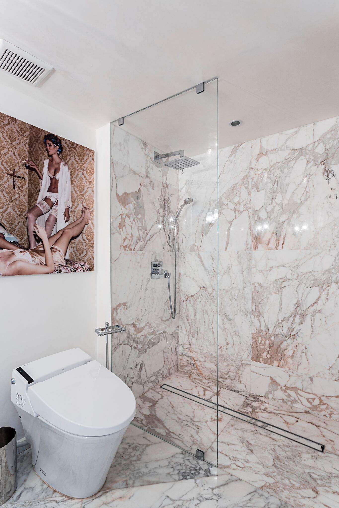 Calacatta Gold Marble Modern Bathroom By Marble Buro