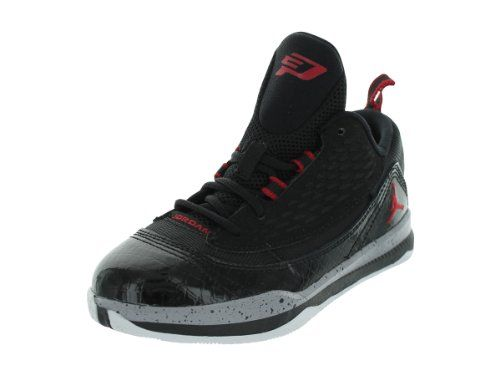 8821192bf25 Nike Kids Jordan CP3.VI AE (PS) Black Gym Red Cement Grey Basketball ...