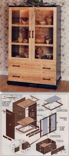 curio cabinet plans furniture plans and projects woodarchivist rh pinterest com