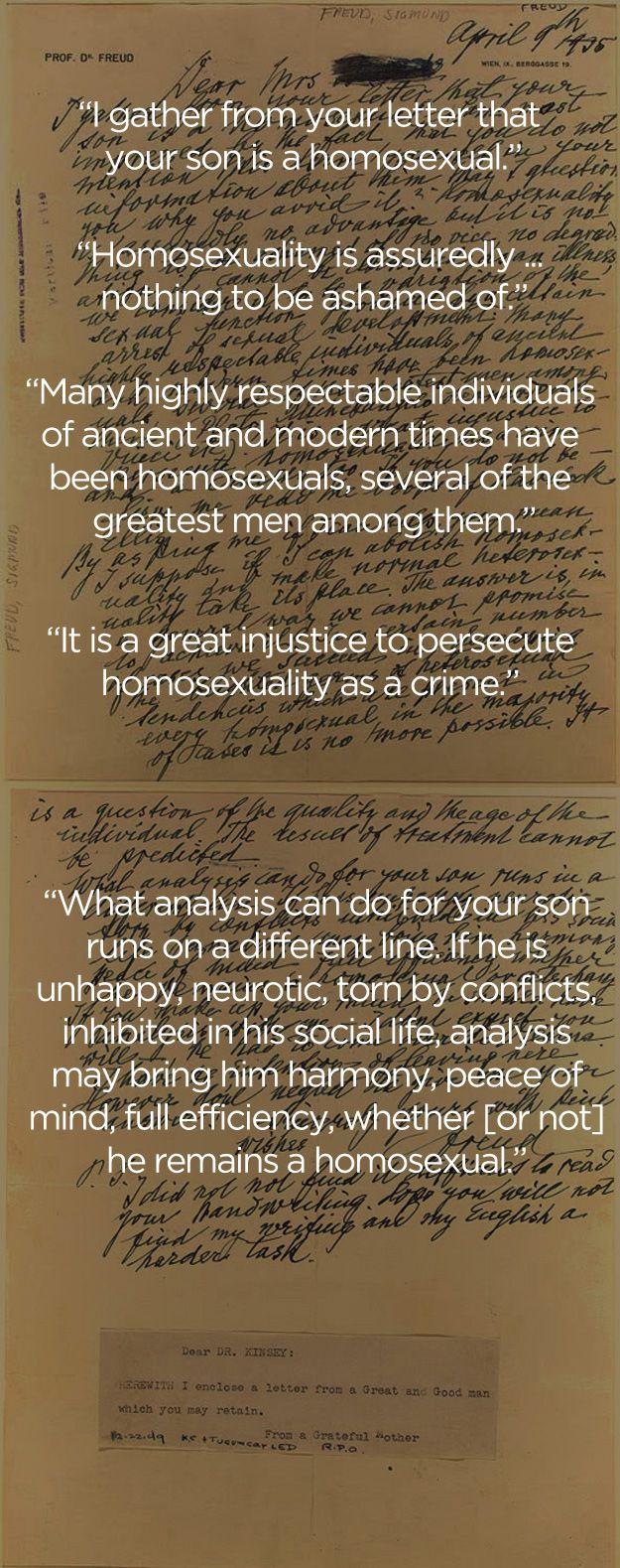 Sigmund Freudu0027s Letter Regarding Homosexuality Sigmund Freudu0027s
