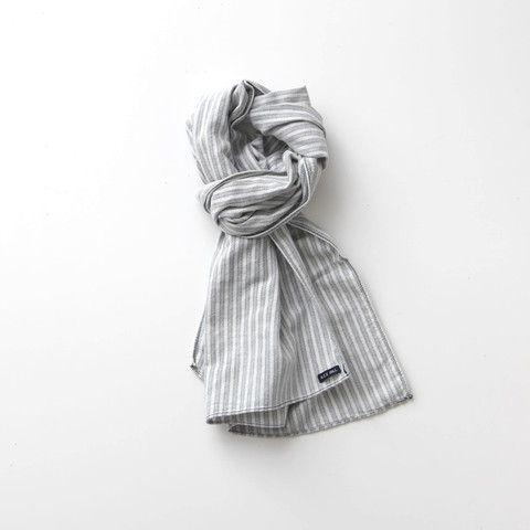 Alex Mill   INDIGO SCARF - WHITE/INDIGO